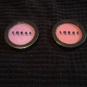 Lorac buildable blush in Chroma and Ultraviolet